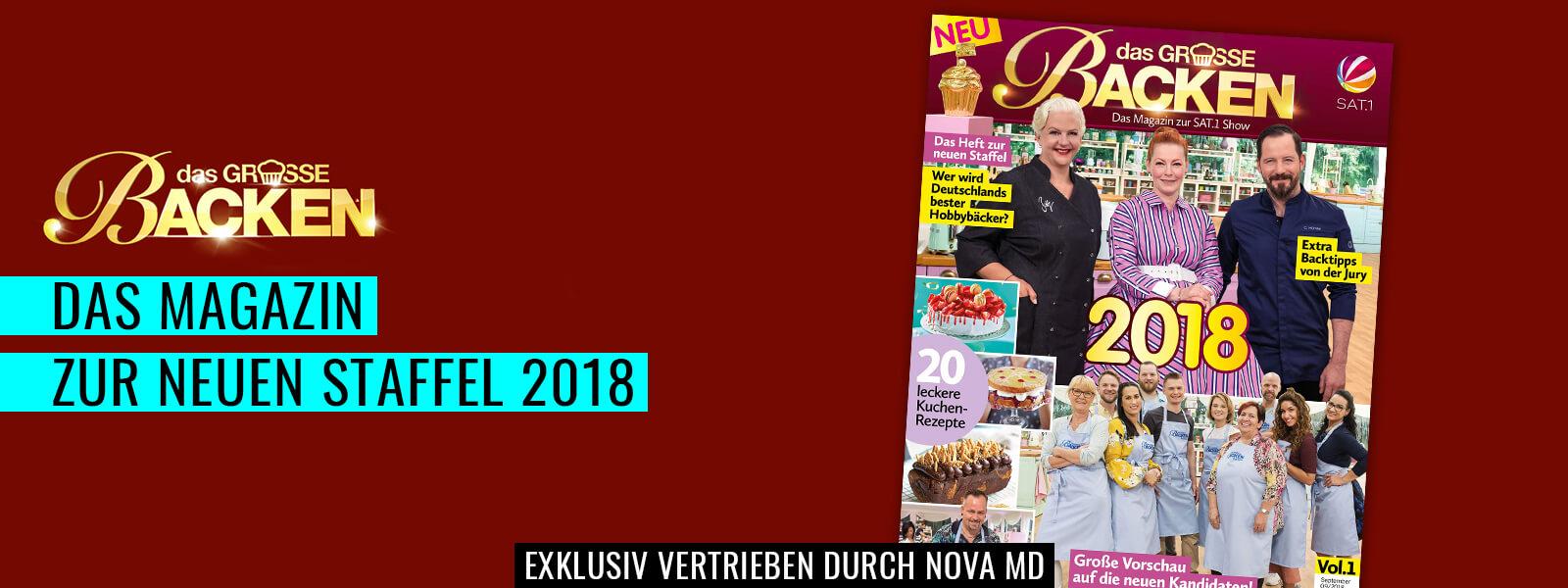 """Das Magazin """"das große Backen"""" zur Staffel 2018"""