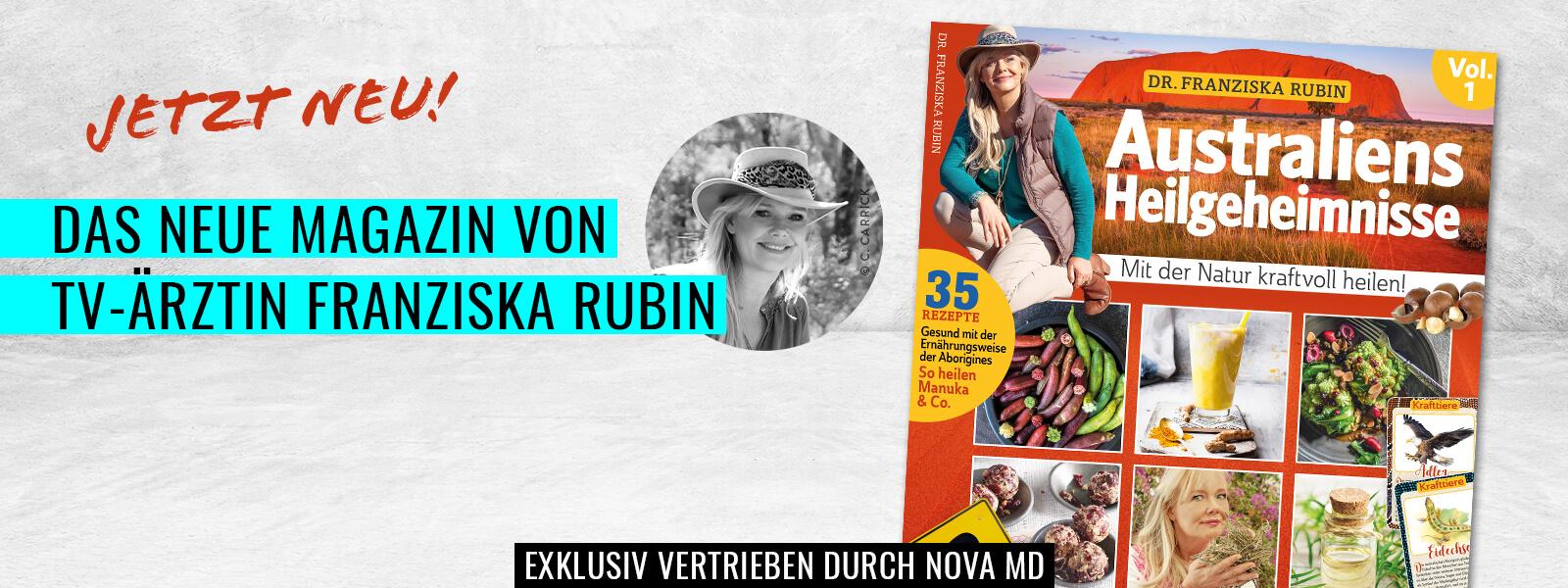 """Das neue Magazin """"Australiens Heilgeheimnisse"""" von TV-Ärztin Franziska Rubin"""
