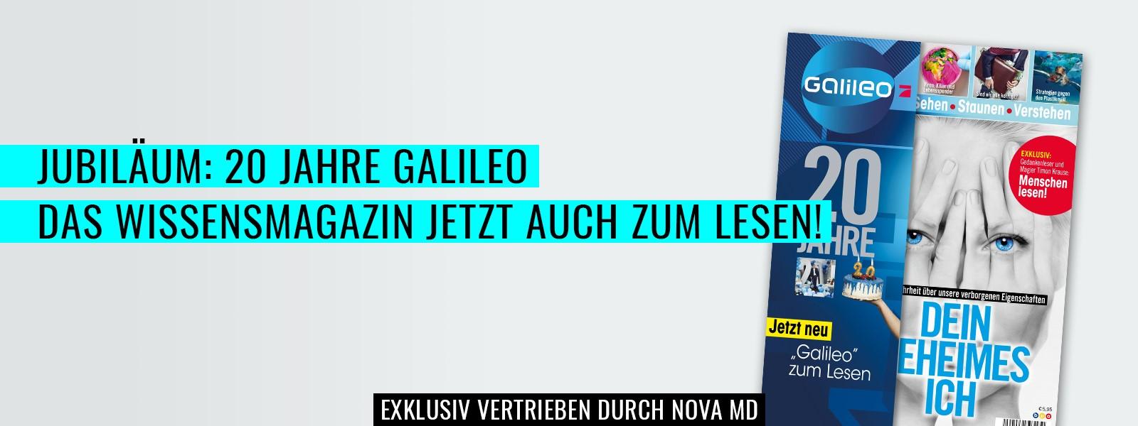 20 Jahre Galileo, das Magazin zum Jubiläum