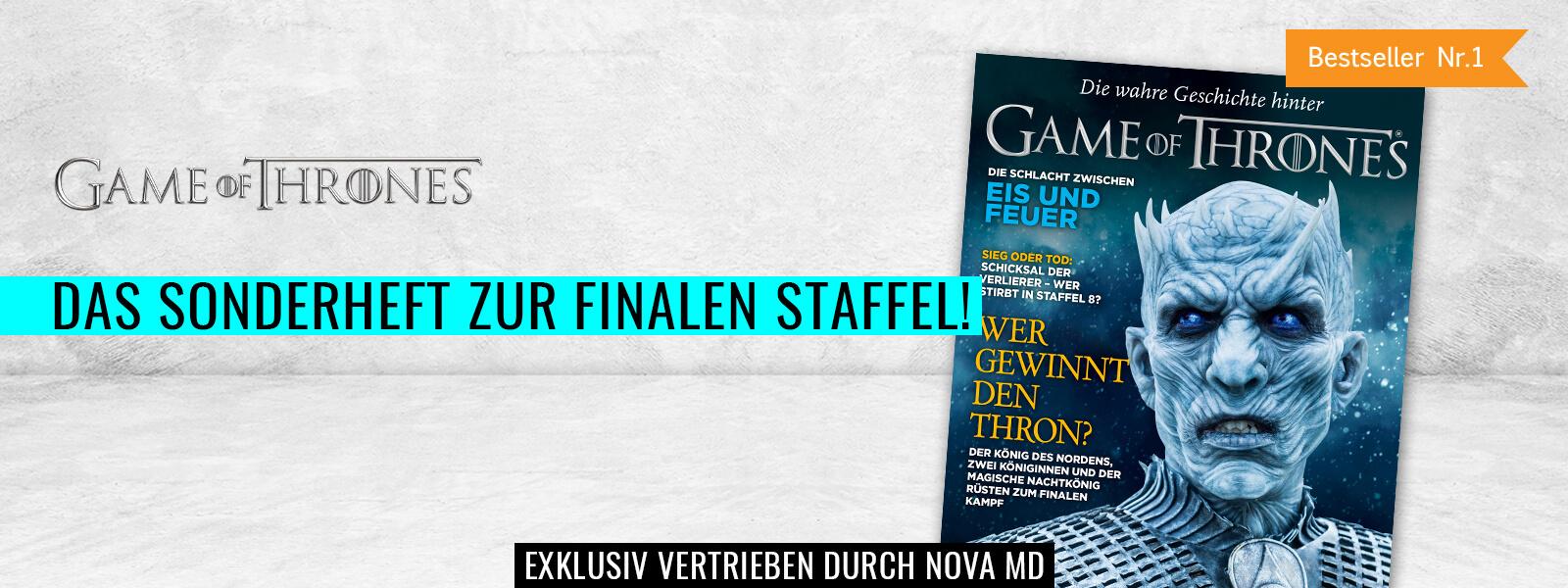 Game of Thrones Magazin, das Special zur finalen Staffel, Bestseller bei Amazon