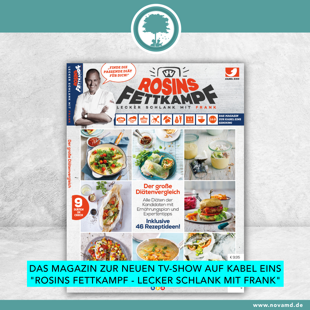 The magazine for the TV show: Rosins Fettkampf - Lecker schlank mit Frank Rosin