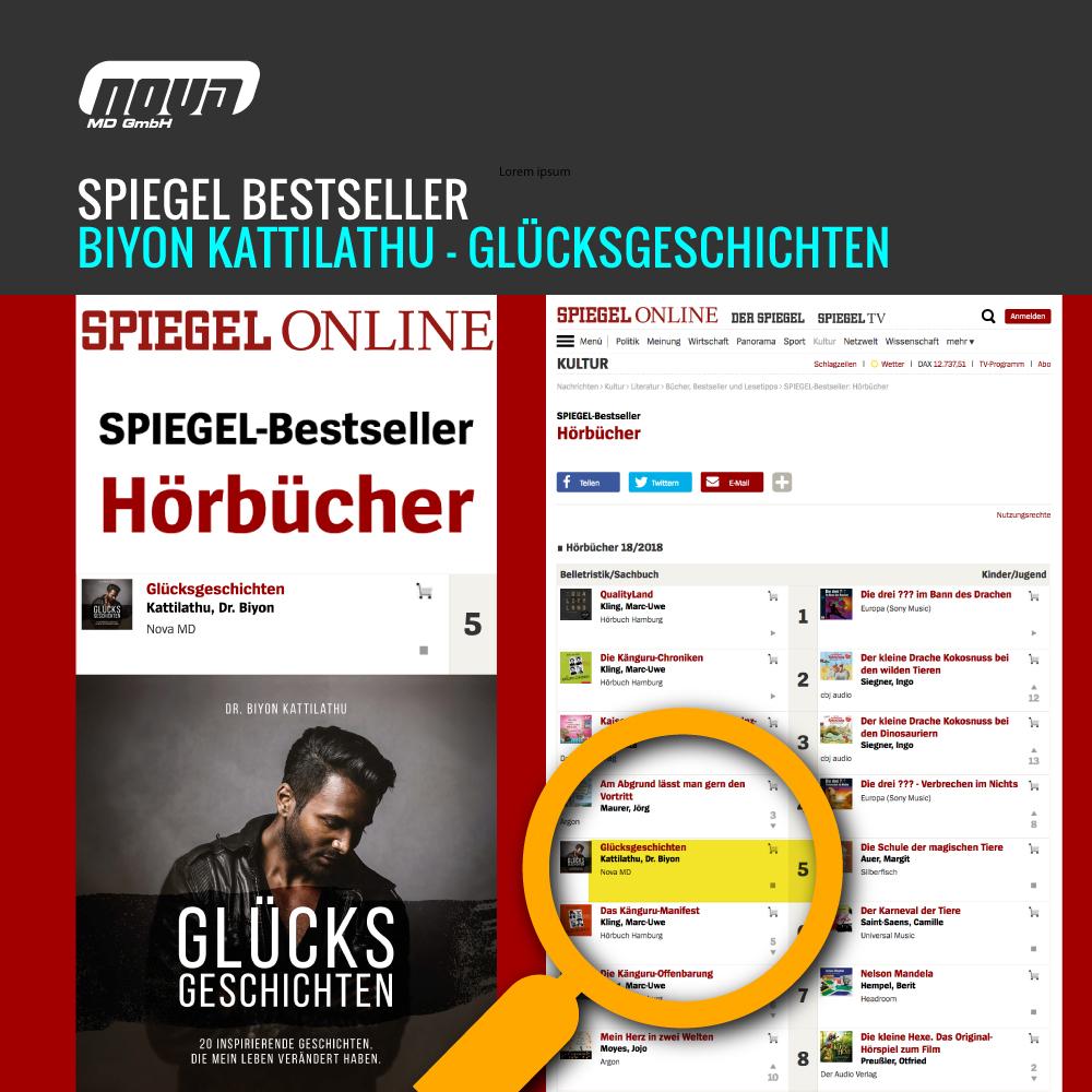 """Spiegel-Bestseller 2018: """"Glücksgeschichten"""" von Biyon Kattilathu"""
