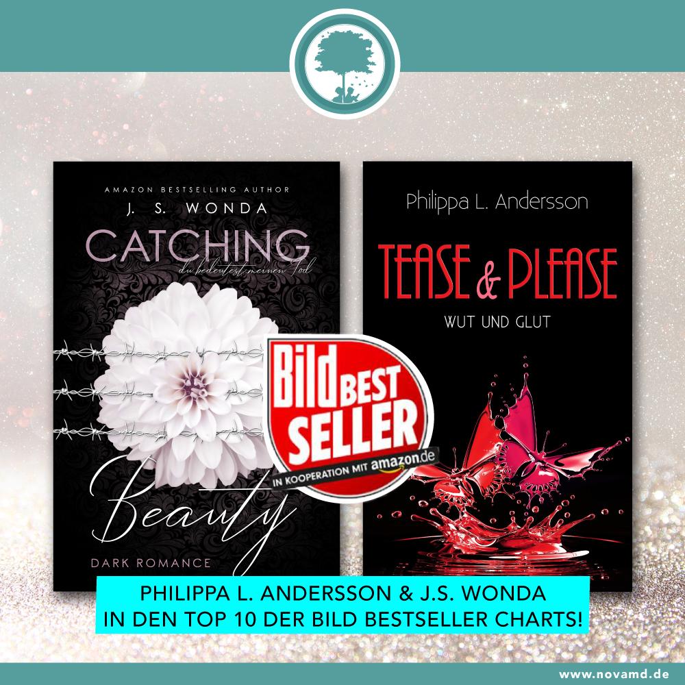 Philippa L. Andersson und J.S. Wonda sind unter den Top 10 Bild-Bestsellern